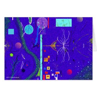 Blaue abstrakte und Blume Beileids-Karte Karte