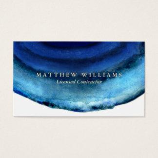 Blaue Achat-Visitenkarten Visitenkarten