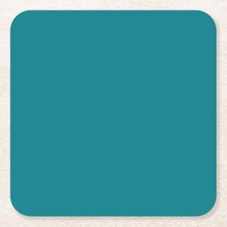 BLAUE Änderungsfarbe der Schablone DIY ADDIEREN Rechteckiger Pappuntersetzer