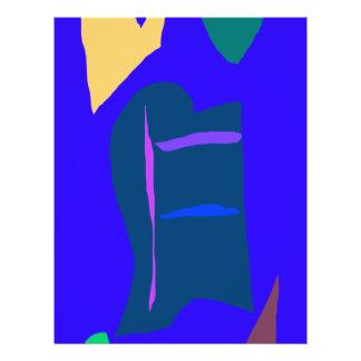 Blaue Anime-Roboter-flüssige Wirtschafts-trockener 21,6 X 27,9 Cm Flyer