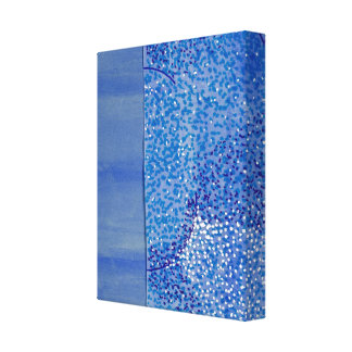 Blaue Aquarell-Grafik Leinwanddruck