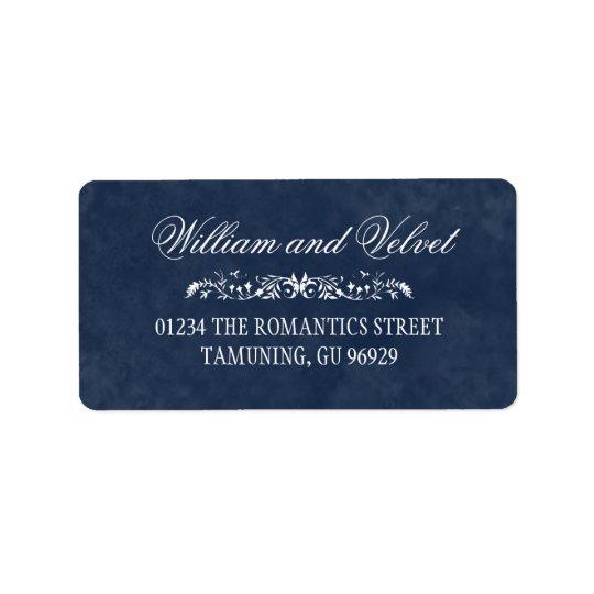 Blaue Aquarell-Hochzeits-Adressen-Etiketten Adress Aufkleber