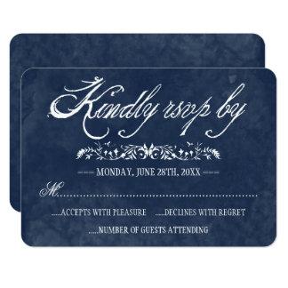Blaue Aquarell-Hochzeits-Wartekarten 8,9 X 12,7 Cm Einladungskarte