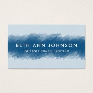 Blaue Aquarell-Visitenkarte Visitenkarten