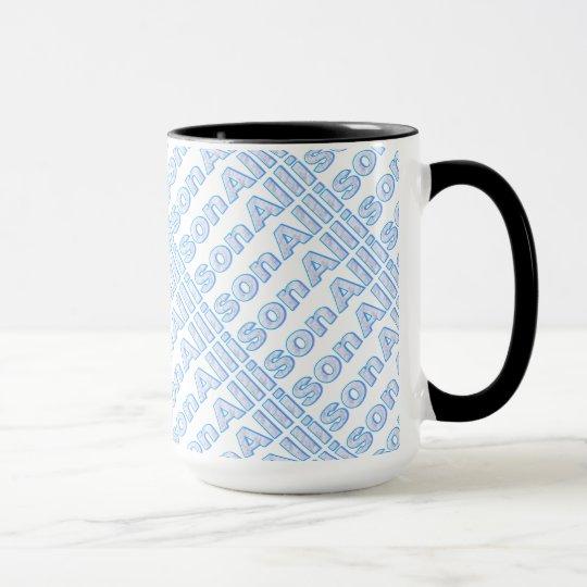 Blaue Art Allison 15 Unze-Wecker-Tasse Tasse