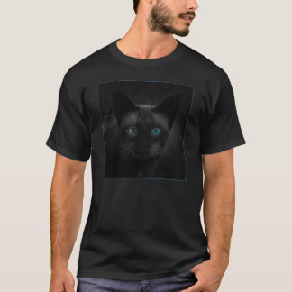 Blaue Augen-siamesische Katzen-Shirt T-Shirt