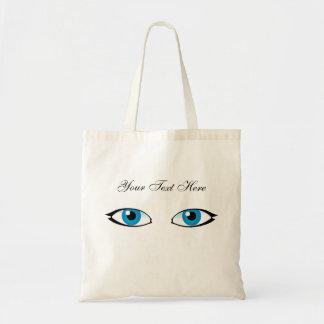 Blaue Augen Tragetasche