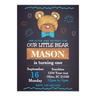 Blaue Bärn-Bogen-Krawatten-Geburtstags-Einladung 12,7 X 17,8 Cm Einladungskarte
