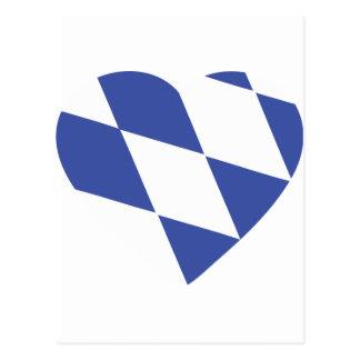 blaue bayerische Herzikone Postkarten