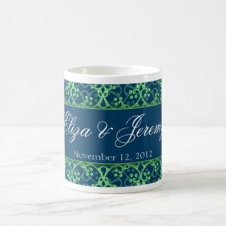 Blaue Beeren-Gruppen-Hochzeits-Tasse Tasse