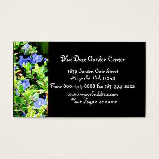Blaue Benommenheits-Blumengeschäft Visitenkarte