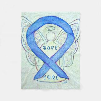 Blaue Bewusstseins-Band-Engels-Hoffnungs-und Fleecedecke