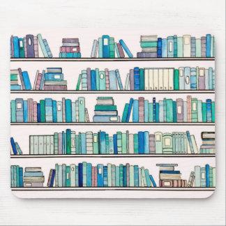 Blaue Bibliothek Mousepad