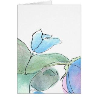 Blaue Blume Notecard Karte