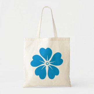 Blaue Blume Tragetasche