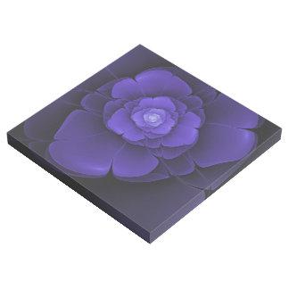 Blaue Blumen-abstrakter Galerieleinwand