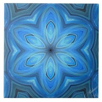 Blaue Blumen-Kunst Keramikfliese