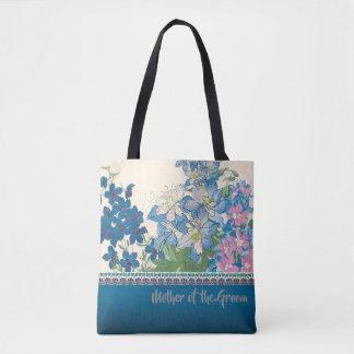 Blaue Blumen-Lieblingsbrautjungfern-Geschenk Tasche