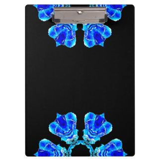 Blaue Blumenblätter