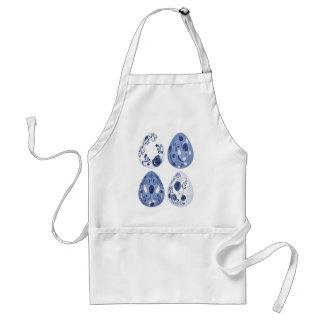 Blaue BlumenOSTEREIER Schürze