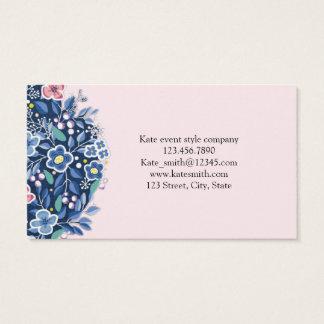 Blaue Blumenstrauß-Blumen-Blumengeschäfts-Karte Visitenkarten
