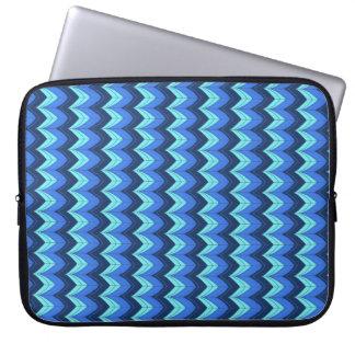 Blaue Bögen Laptopschutzhülle