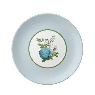 Blaue botanische dekorative Porzellan-mit Teller Aus Porzellan