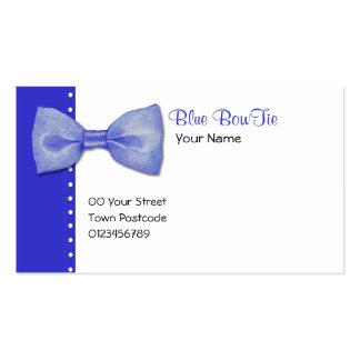 Blaue BowTie Visitenkarte
