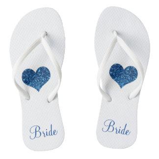Blaue Braut Flip Flops