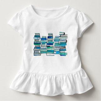 Blaue Buch-Rüsche-T-Stück Kleinkind T-shirt