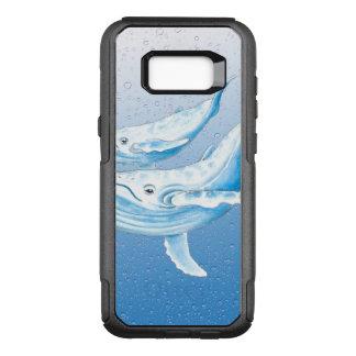 Blaue Buckel Waterdrops OtterBox Commuter Samsung Galaxy S8+ Hülle