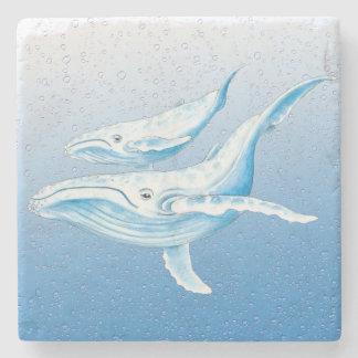 Blaue Buckel Waterdrops Steinuntersetzer