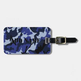 Blaue Camouflage addieren Namen, Gepäck-Umbau mit Gepäckanhänger