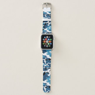 Blaue Camouflage Apple Watch Armband