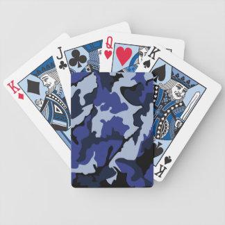 Blaue Camouflage, Fahrrad-Spielkarten Bicycle Spielkarten