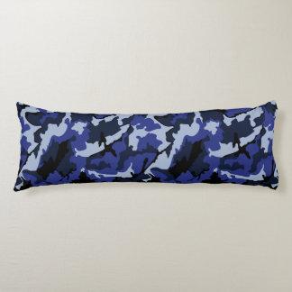 Blaue Camouflage, gebürstetes Seitenschläferkissen