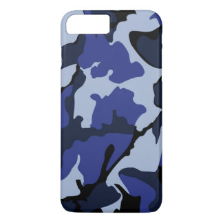 Blaue Camouflage, iPhone 7 Pluskaum dort Fall iPhone 7 Plus Hülle