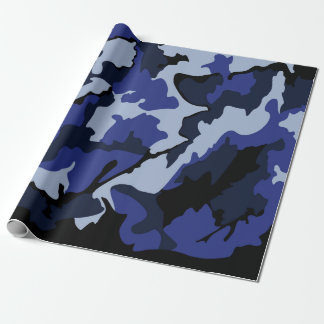 "Blaue Camouflage, Verpackungs-Papier 30"" x6 Geschenkpapier"