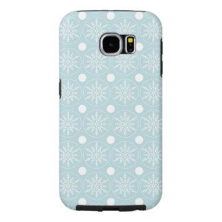Blaue Case-Mate-Abdeckung Schneeflocke-Samsungs-Ga