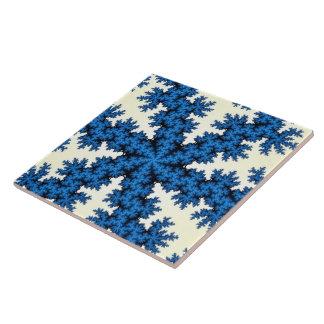 Blaue China-Schneeflocke-große Fliese