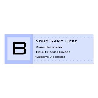 Blaue Deko-Initialen-dünne Profil-Geschäfts-Karte Jumbo-Visitenkarten