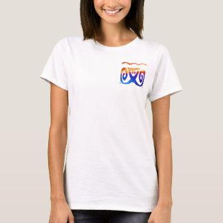 Blaue Dekorationen 5 des Goldn T-Shirt