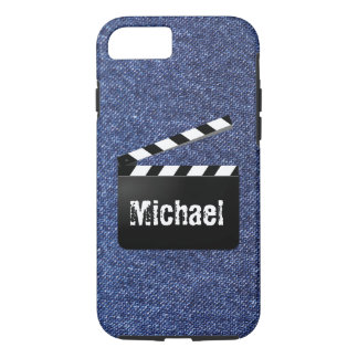 Blaue Denim-Jeans Clapperboard personalisierter iPhone 8/7 Hülle