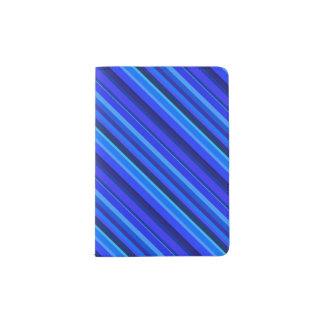 Blaue diagonale Streifen Passhülle