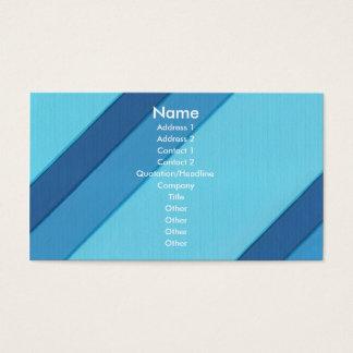 Blaue diagonale Streifen, Visitenkarten