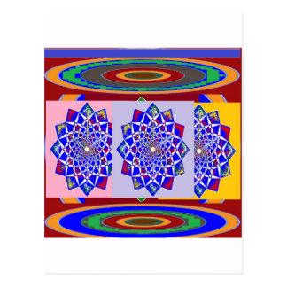 BLAUE DIAMANT Chakra Rad-Blume königlich Postkarte