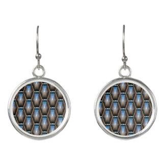 Blaue Diamant-Mode-Ohrringe durch Julie Everhart Ohrringe