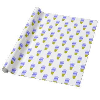 Blaue Eistüten Einpackpapier