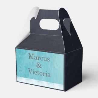 Blaue Email-Farben-moderne Hochzeit Geschenkschachtel