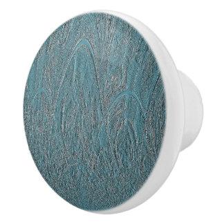 Blaue empfindliche dekorative hügelige keramikknauf